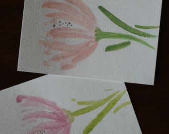 Watercolored Postcards