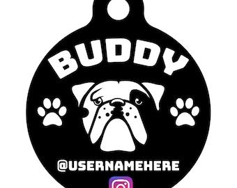 Custom Dog pet tags, sharpei, bulldog, dalmatian