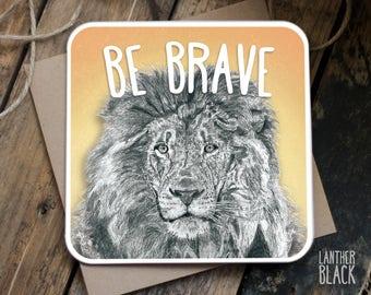 Good Luck Card / New job card / Good luck son /Good luck daughter / Exam card / Encouragement Card / Be brave card / Lion card / WT01