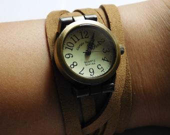 Leather adjustable Watch WAT_668903852_GIFT IDEA