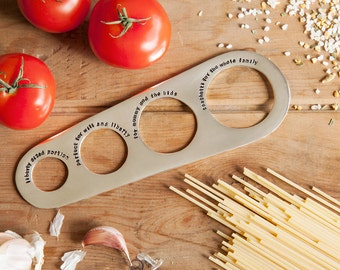 Personalised Silver Plated Spaghetti Measure