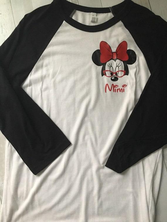 Free Shipping! Mimi Shirt/ Grandma Shirt/ Character Shirt / Nana Shirt/ Mouse Shirt/ Vacation XhNsoIN4X6