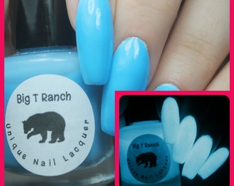 Glow-in-the-Dark Nail Polish - Blue - Little Dipper - Custom Blended - FREE U.S. SHIPPING - Full Sized Bottle (15 ml size)