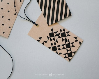 Gift Tags, Geometric, {set of 5}