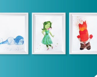 Inside Out in Watercolor, Prints of Original Paintings