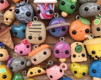 Polymer clay mystery charm by Enjoy The Little Things! / kawaii / realistic / festive / colorful / bright / summer