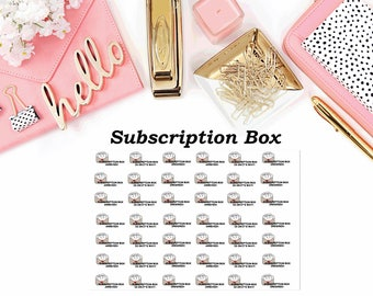 Subscription Box Reminder Stickers