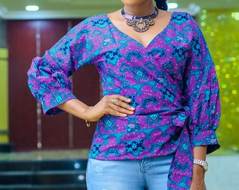 Oby African print Ankara blouse