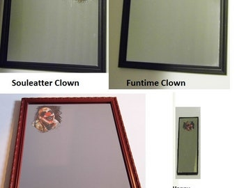 Killer Clown Mirror -Scary Clowny Wants to pull you into his realm! -Choose your Fav Murderer -Priority Shipping