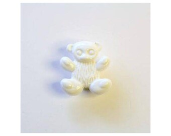 Pooh Aqueue 14mm set of 6 buttons: white - 0303