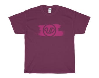 Painted Logo In Magenta Heavy Cotton Tee