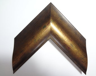 """Copper Gold and Green Wood Frame, 3 1/8""""Wide, Made to Order"""