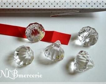 Set of 4 decorative diamonds