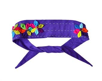 Sequin Flower Headband