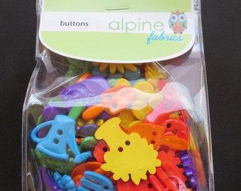 Riley Blake Gardening Buttons - 100 grams
