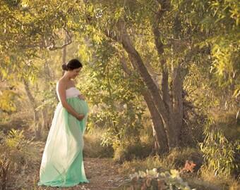 Ombre  chiffon maternity gown /chiffon maternity dress/modelling/senior props/maternity props/bridal/wedding/prom