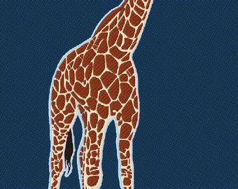 Embroidery giraffe