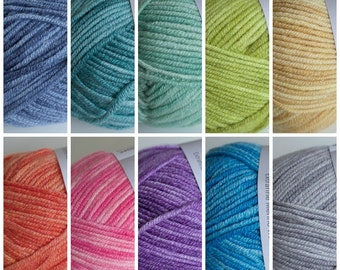 Debbie Bliss Baby Cashmerino Tonals (Sportweight Yarn) - 16 Colours Available