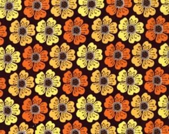 Clearance-Sandi Henderson for Michael Miller, Meadowsweet, Poppy  Parade in Brown (SH4236) - 1 Yard