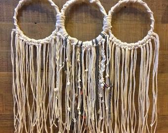 Woven Art Hoops // Bohemian Woven Art // Woven Wall Hanging // Wall Decor