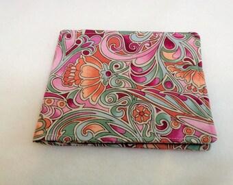 Pink and Grey Art Deco Design Tampon Case - Pantiliner Holder - Tampon Purse - Sanitary Bag - Pantyliner Purse - Tampax Purse - Tampon Purse