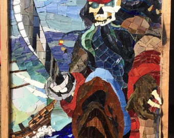 Ghost Pirate Mosaic