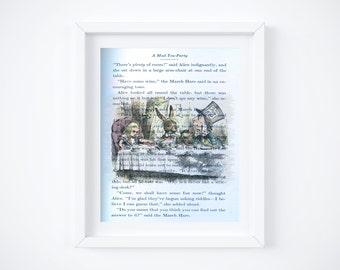 "Alice in Wonderland Digital Art Print (Blend into story): 8"" x 10"""