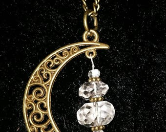 "Pendant ""Mountain crystal in the moon"""
