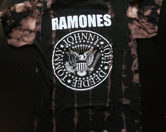 Destroyed Ramones Logo Adult Tee in Medium