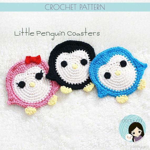 Little Penguin Coasters Crochet Pattern