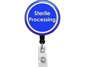 Sterile Processing - Badge Reel Retractable ID Badge Holder