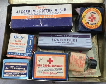 Bauer and Black Vintage Automobile First Aid Kit