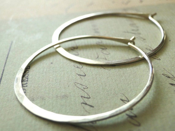 Silver Hoop Earrings, Sterling Silver Hoops