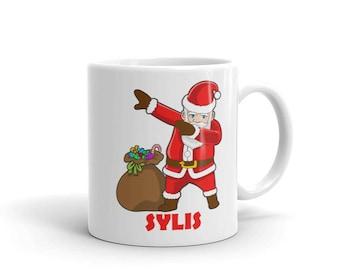 Dabbing Santa Claus Mug for Sylis - Hip Hop Christmas Dance Mug