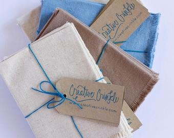 Napkin - Fringed - Hemp / Organic Cotton - Set of 2 - Table Linen