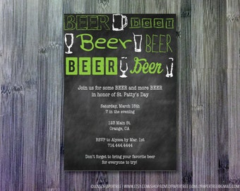 Green Beer St. Patty's Day Invitation | HP_STP2