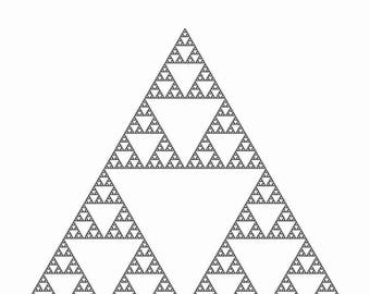 Mathematical Wall Art. 9th Iteration Sierpinski Triangle Space-Filling-Curve