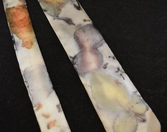 Eco-printed Silk Tie (2018-04)