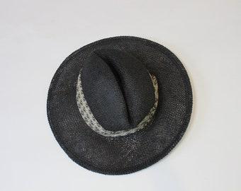 Black Wicker Hat