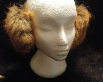 Genuine Fox Fur Ear Muffs