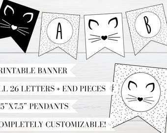 Chic Kitty Birthday Party Banner