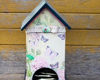 Tea box tea storage Vintage Wooden tea box shabby chic tea box shabby tea box tea house Retro Tea Storage Box Tea Bag Box Tea bag storage
