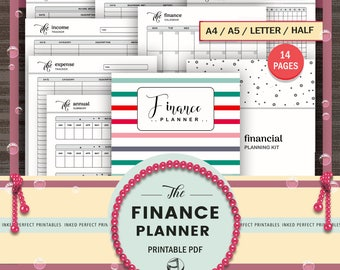 Finance Tracker - Finance Planner Book - Budget Binder - Bill Pay - Expense Tracker - Financial Digital Printables - Home Binder - Organizer