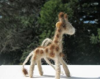 Giraffe Ornament, Hand Felted Wool Giraffe Ornament, Safari Animal Wreath Decoration, African Animal Handmade Christmas Ornament