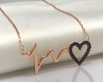 heartbeat silver necklace! (VALENTİNES DAY!)