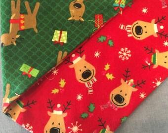 Reindeer Games Double Sided Dog Bandana