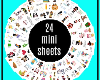 24 mini sheet samplers holidays and more