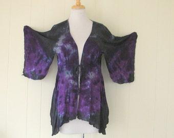 Twilight Kimono Sleeve Tie Dyed Jacket