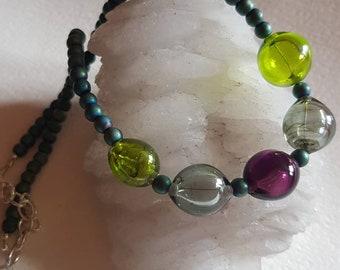 Bubble lampwork necklace