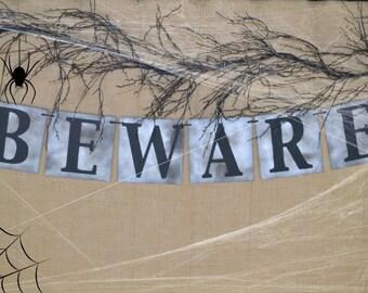 BEWARE Banner  ...  Halloween Banner  ...  Halloween Decor ...  Halloween Fun  ...  Celebration